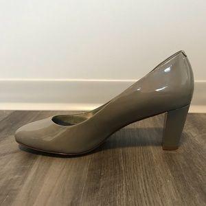Ralph Lauren Women's Grey Hala Leather Heels